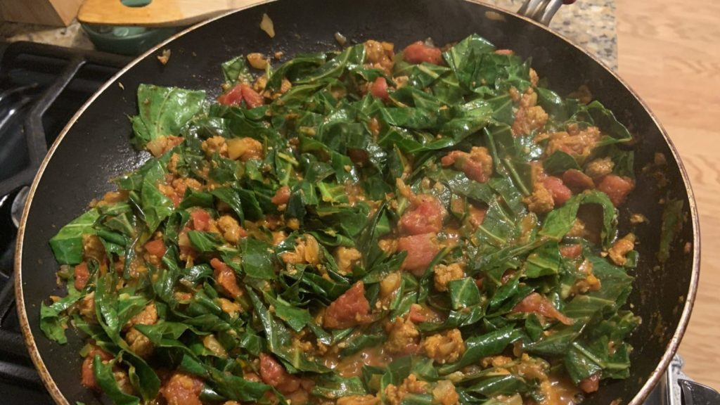 Collard Greens Cooking Small